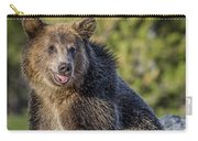 Smiling Grizzly Carry-all Pouch