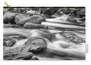 Smokey Mountain Stream Of Flowing Water Over Rocks Carry-all Pouch
