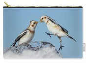 Snow Buntings And Ice Carry-all Pouch