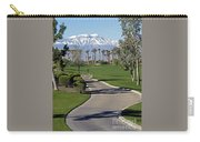 Snow Capped Mountains In The Desert Carry-all Pouch