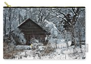 Snow Covered Barn Carry-all Pouch