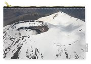 Snow-covered Ngauruhoe Cone, Mount Carry-all Pouch by Richard Roscoe