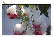 Snow Covered Roses Carry-all Pouch