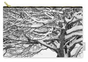 Snow Covered Tree Branches Carry-all Pouch