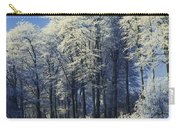 Snow Covered Trees In A Forest, County Carry-all Pouch