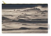Snow Drift Over Winter Sea Ice Carry-all Pouch