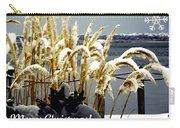 Snow Dust Christmas Card Carry-all Pouch
