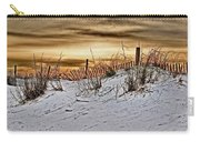Snow Fence On Horizon Carry-all Pouch
