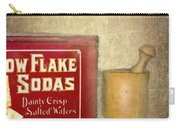 Snow Flake Soda Crackers Carry-all Pouch