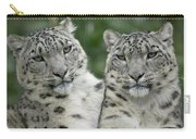 Snow Leopard Pair Sitting Carry-all Pouch