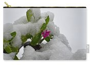 Snow On The Flowers Carry-all Pouch