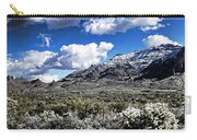 Snow On The Superstitions  Carry-all Pouch