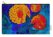 Snowball Plant Abstract 2 Carry-all Pouch