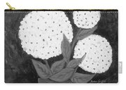 Snowball Plant B W Carry-all Pouch
