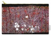 Snowberries And Rosehips Carry-all Pouch