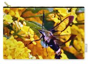 Snowberry Clearwing Hummingbird Moth Carry-all Pouch