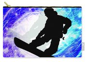 Snowboarder In Whiteout Carry-all Pouch