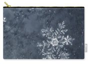 Snowflake In Blue Carry-all Pouch