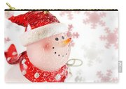 Snowman With Snowflakes  Carry-all Pouch