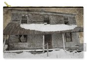 Snowy Abandoned Homestead Porch Carry-all Pouch