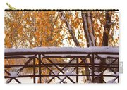 Snowy Autumn Walking Bridge Carry-all Pouch