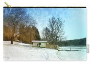 Snowy Beach Carry-all Pouch by Jutta Maria Pusl