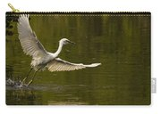 Snowy Egret Fishing In Florida Carry-all Pouch
