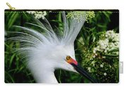Snowy Egret With Breeding Plumage Carry-all Pouch
