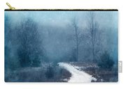 Snowy Foggy Rural Path Carry-all Pouch