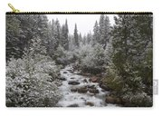 Snowy Foliage Along Stream In Autumn Carry-all Pouch