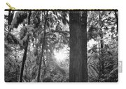 Snowy Forest Bw Carry-all Pouch