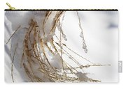 Snowy Fountain Grass Carry-all Pouch