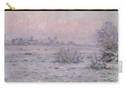 Snowy Landscape At Twilight Carry-all Pouch