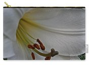 Snowy Lily Carry-all Pouch