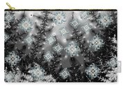 Snowy Night I Fractal Carry-all Pouch by Betsy Knapp
