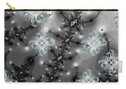 Snowy Night II Fractal Carry-all Pouch