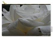 Snowy Rose Carry-all Pouch