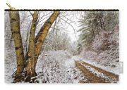 Snowy Watercolor Carry-all Pouch by Debra and Dave Vanderlaan