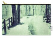 Snowy Wooded Path Carry-all Pouch