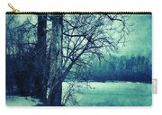 Snowy Woods By A Lake Carry-all Pouch