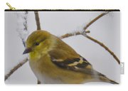 Snowy Yellow Finch Carry-all Pouch