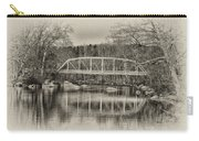 Snyder Road Bridge At Green Lane Park In Sepia Carry-all Pouch