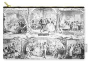Social Activities, 1861 Carry-all Pouch by Granger