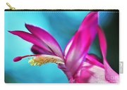 Soft And Delicate Cactus Bloom 3 Carry-all Pouch by Kaye Menner