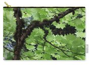 Soft Green Leaves Carry-all Pouch