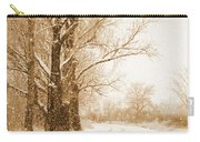 Soft Sepia Season's Greetings Carry-all Pouch