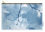 Softness Of Blue Leaves Carry-all Pouch by Jennie Marie Schell