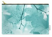 Softness Of Teal Maple Leaves Carry-all Pouch
