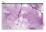 Softness Of Violet Maple Leaves Carry-all Pouch