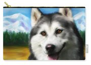 Smiling Siberian Husky  Painting Carry-all Pouch